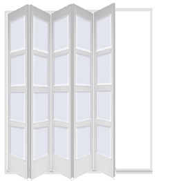 White 5 Leaf Bardsley with 4 Solid Panel...