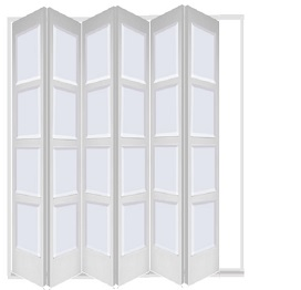 White 6 Leaf Bardsley with 4 Solid Panel...