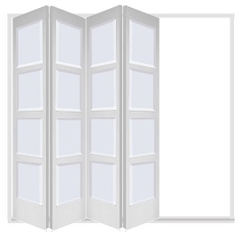 White 4 Leaf Bardsley with 4 Solid Panel...