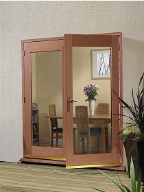 Hardwood La Porte French Doors Clear Dou...