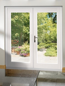 White La Porte French Doors Clear Double...