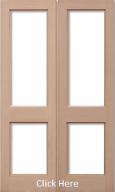 Hemlock 2XGG Rebated Pair - Unglazed (No Glass) - LPD