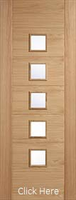 Oak Carini Glazed - Solid Core - Unfinished - LPD