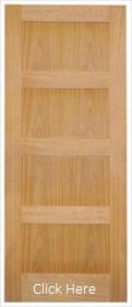 Oak Shaker 4 Panel - Solid Core - Unfinished - LPD