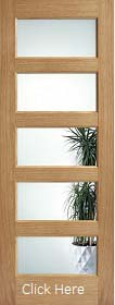 Oak Contemporary Clear Glazed  - Pre Finished - Solid Core -  LPD