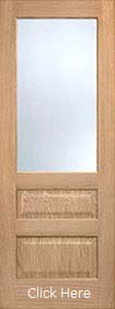 Oak Contemporary 3 Panel Obscure Glazed - Pre Finished - LPD