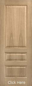 Oak Contemporary 3 Panel - Solid Core - Pre Finished - LPD