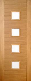 Oak Trend 4 Light with Obscure Glass - P...
