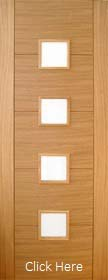 Oak Trend 4 Light with Obscure Glass - Pre Finished - Channel Groove - DF