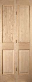 Oak Oregon 4 Panel Bifold - Flush Bead  ...