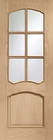 Oak Riviera with Clear Glass and Raised ...