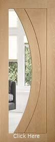 Oak Salerno with Clear Glass - Unfinished - XL