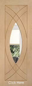 Oak Treviso with Clear Glass - Unfinished - XL