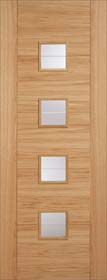 Oak Vancouver 4L with Square Clear Glass - Pre Finished - LP