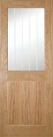 Oak Ely 1L - Clear Glazed - Unfinished - DE