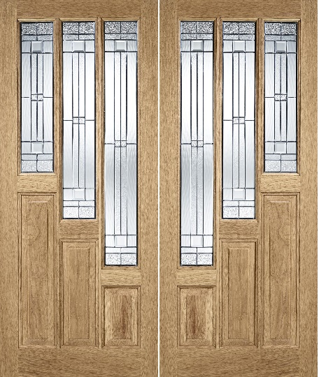 Oak Coventry Pair Flip - Rebated Pair - ...