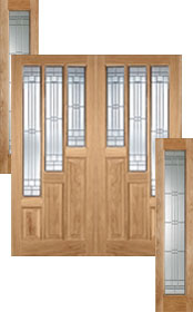 Oak Coventry Pair with Matching Sideligh...