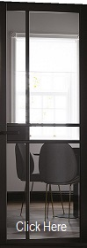 Black Primed Greenwich Glazed - Clear Gl...