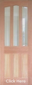 Hardwood Barnbrough - Clear Bevelled Gla...
