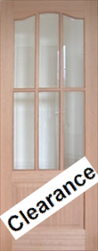 Hardwood Lindrick with Bevelled Glass - ...