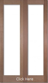 Hardwood Pattern 20 - Unglazed - Rebated Pair - DF