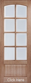 Hardwood Worthing with Clear Bevelled Glass - Unfinished - LP
