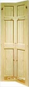 Knotty Pine Colonial 6 Panel Bifold Door - X