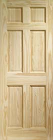 Clear Pine Colonial 6 Panel Door - X