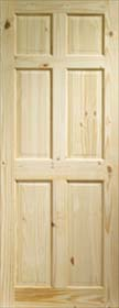 Knotty Pine Colonial 6 Panel - X