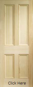 Pine Edwardian 4 Panel - Vertical Grain Clear Pine - X