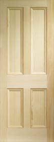 Pine Edwardian 4 Panel - Vertical Grain - X