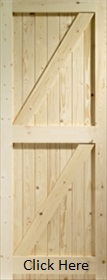 Pine Framed Ledged, and Braced Door - XL