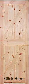 Redwood Framed Ledged and Braced Door  (...