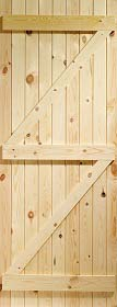 Pine Ledged and Braced Door - XL
