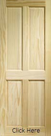 Clear Pine Victorian 4 Panel Door - XL