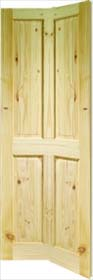 Knotty Pine Victorian 4 Panel Bifold Door - X