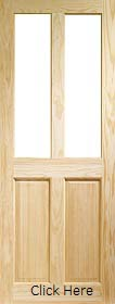 Pine Victorian 4 Panel - Unglazed - Clear Pine - X