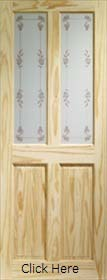 Knotty Pine Victorian with Bluebell Glass - XL