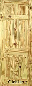 Knotty Pine 6 Panel - Solid Core - LPD