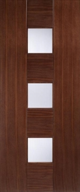 Walnut Catalonia with Toughened Linea Glass - Pre Finished - LP