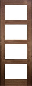 Walnut Coventry with Clear Glass - Pre Finished - DE