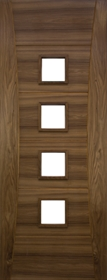 Walnut Pamplona - Clear Bevelled Glass - Pre Finished - DE