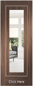 Walnut Varese with Clear Glass and Aluminium Inlays - Prefinished - XL