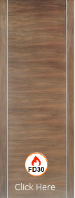 Walnut Alcaraz Fire Door - Pre Finished ...