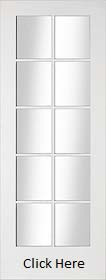 White Primed Shaker 10 Light with Clear ...
