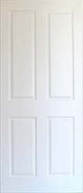 White Primed 4 Panel - Grained - Standard Core  - MB
