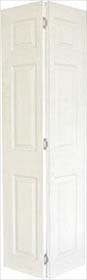 White Primed 6 Panel Bifold  - Grained - Standard Core - MB