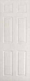 White Primed 6 Panel - Grained - Standard Core - MB