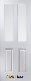 White Primed Arlington 2 Light Etch Glazed  - Smooth - JW