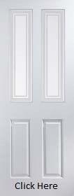 White Primed Atherton with Marginal Glass - Smooth - JW